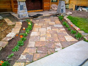 Hardscape stone walk way